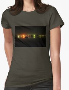 Night Lights on the Water Womens Fitted T-Shirt