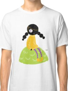 100 Days. Lady sitting on a hillock. Classic T-Shirt