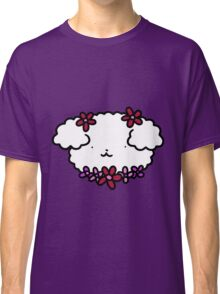 Fluffy Flowery Dog Face Classic T-Shirt