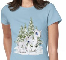 Baby Unicorns in the Snow Womens Fitted T-Shirt