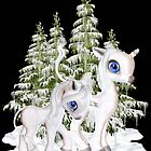 Baby Unicorns in the Snow by LoneAngel