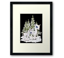 Baby Unicorns in the Snow Framed Print