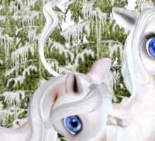 Baby Unicorns in the Snow Sticker