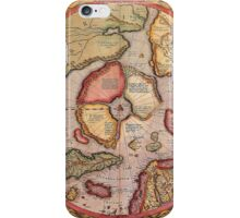 North Pole Map 1595 iPhone Case/Skin