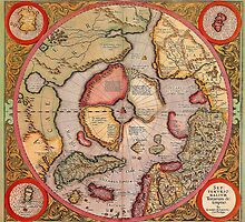 North Pole Map 1595 by solnoirstudios