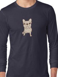 Cream French Bulldog Long Sleeve T-Shirt