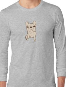 Cream French Bulldog Long Sleeve T-Shirt