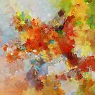 Colorful Abstract Landscape Painting by A. TW