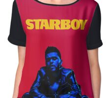 THE WEEKND // STARBOY (WITH FONT) Chiffon Top