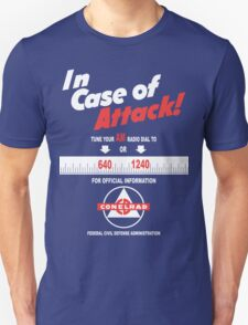 Civil Defense: In Case of (Nuclear) Attack! Unisex T-Shirt