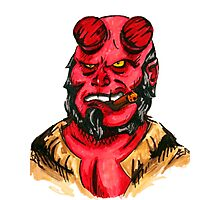 Hellboy Superhero Photographic Print