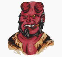 Hellboy Superhero One Piece - Short Sleeve