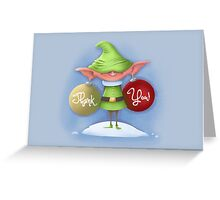 "Elf Earrings ""Thank You"" card Greeting Card"