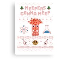 Meepers Gonna Meep - Christmas Sweater Jumper T-Shirt Canvas Print
