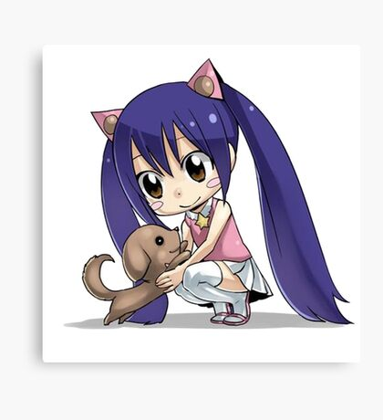 Chibi Wendy of Fairy tail Canvas Print