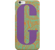 Paisley Print Letter 'G' iPhone Case/Skin