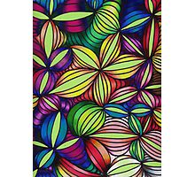 Colorful op art Photographic Print