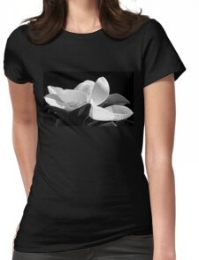 Magnolia Blossom BW    Womens Fitted T-Shirt