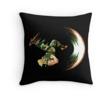 Guile Flash Kick Throw Pillow