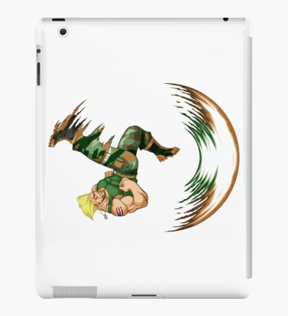 Guile Flash Kick iPad Case/Skin