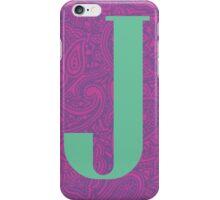 Paisley Print Letter J' iPhone Case/Skin