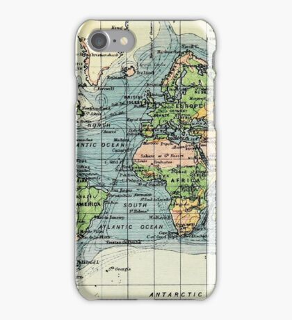 Old commercial map of the World 1865 - 1907 iPhone Case/Skin