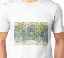 Old commercial map of the World 1865 - 1907 Unisex T-Shirt