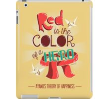 Red is The Color of a Hero iPad Case/Skin