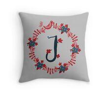 Scandinavian Monogram J Throw Pillow