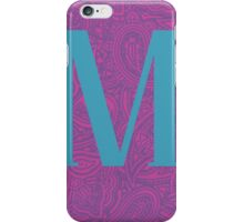 Paisley Print Letter 'M' iPhone Case/Skin