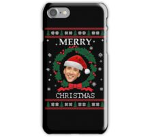 Merry Christmas Nicolas Cage iPhone Case/Skin
