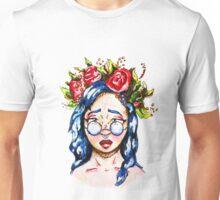 Girl with Blue Hair Unisex T-Shirt