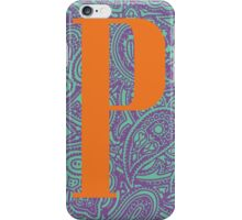 Paisley Print Letter 'P' iPhone Case/Skin