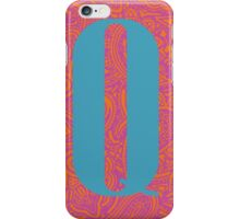 Paisley Print Letter 'Q' iPhone Case/Skin