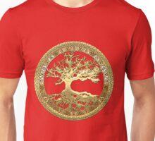Celtic Tree of Life, Yggdrasil  [Gold] Unisex T-Shirt