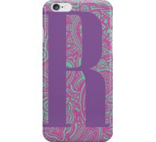 Paisley Print Letter 'R' iPhone Case/Skin