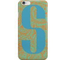 Paisley Print Letter 'S' iPhone Case/Skin