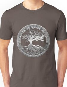 Celtic Tree of Life, Yggdrasil [Silver] Unisex T-Shirt