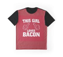 This Girl Loves Bacon Graphic T-Shirt