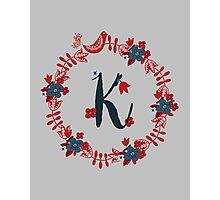 Scandinavian Monogram K Photographic Print