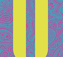 Paisley Print Letter 'U' by haypaige