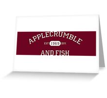 Applecrumble and Fish Greeting Card