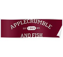 Applecrumble and Fish Poster