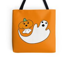 Ghost and Pumpkin Ghost Tote Bag