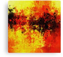 Yellow Abstract Art Canvas Print