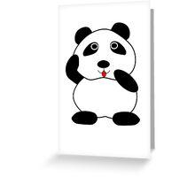 Cute Panda  Greeting Card