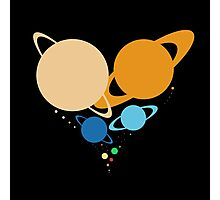 Solar System Heart (to scale) Photographic Print