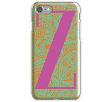 Paisley Print Letter 'X' iPhone Case/Skin
