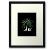 Meanwhile In The Woods Framed Print