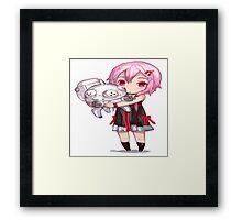 Inori guilty crown chibi kawaii Framed Print